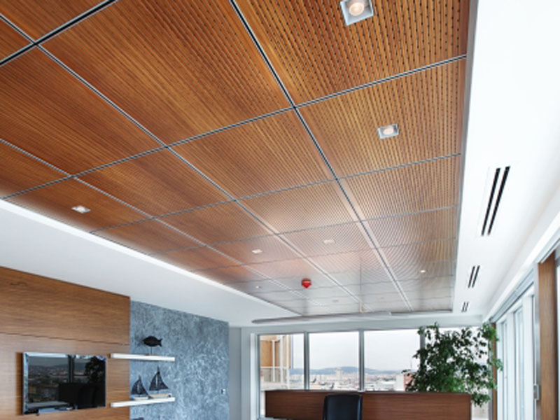 Decorative Wall Thin Wood Panel Acoustical Materials Ceiling Tiles Azentum Solutions